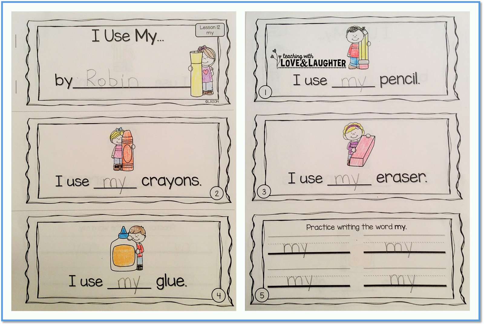 Sight Word Sentence Booklets Teaching With Love And