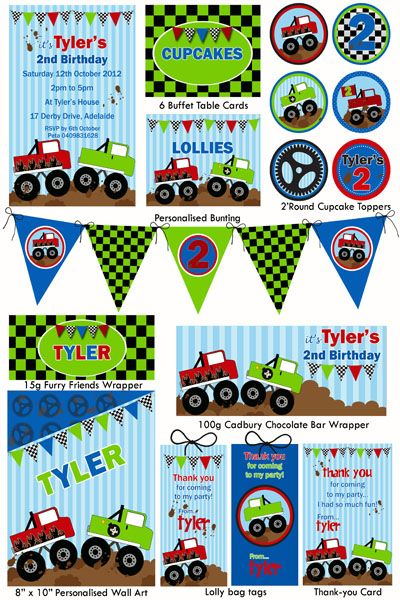 pin by maura on cumple monster truck | pinterest | monster trucks, Party invitations