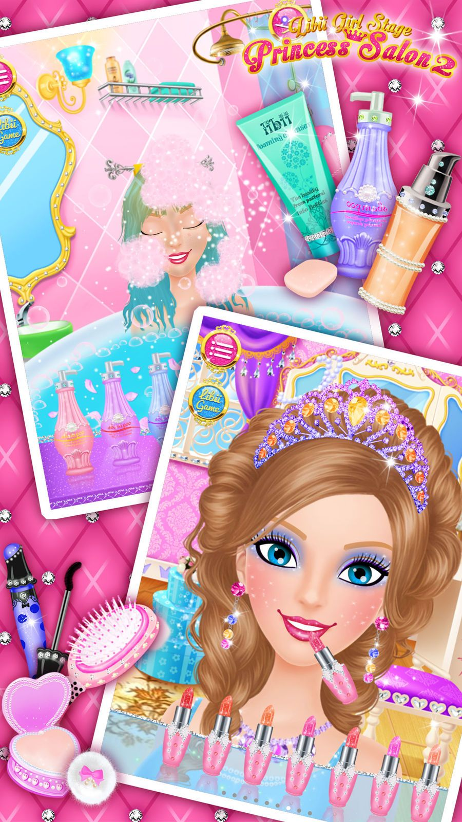 Princess Salon 2 Makeup Dressup Spa And Makeover Girls Beauty Salon Games Libii Games Beauty Family Beauty Salon Games Beauty Girl Makeover