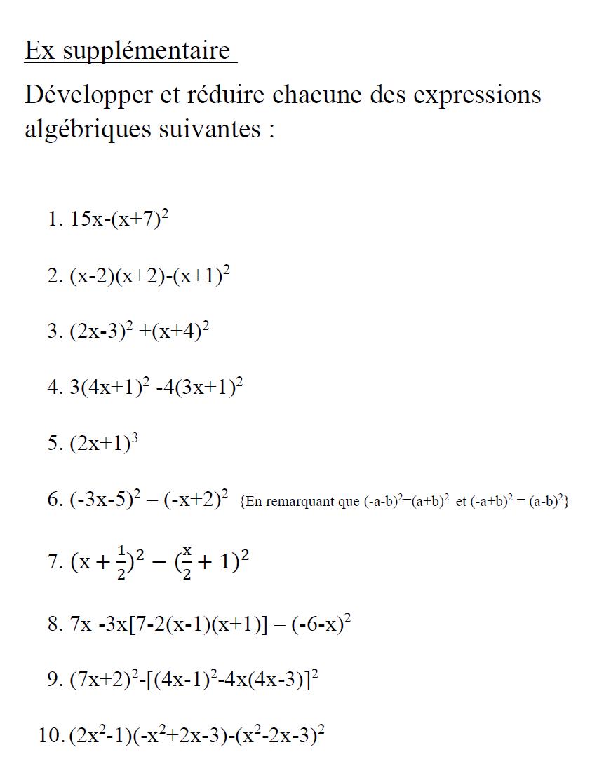 Math Authentique Exercices Developpement Math Math Equations Authentique