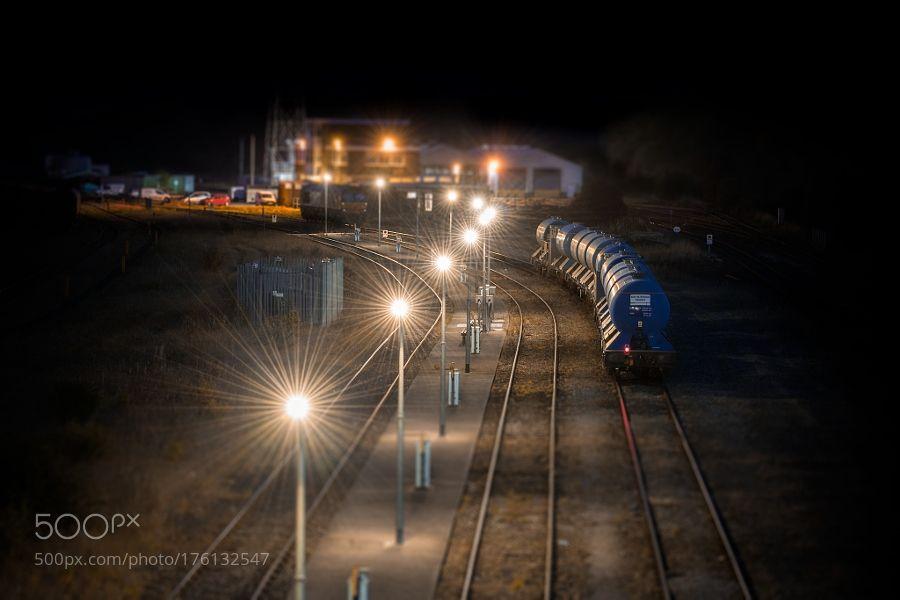 Model Railway by Brbelly with travelnighttraintransporttransportationurbanrailwayrailroadrailtracks