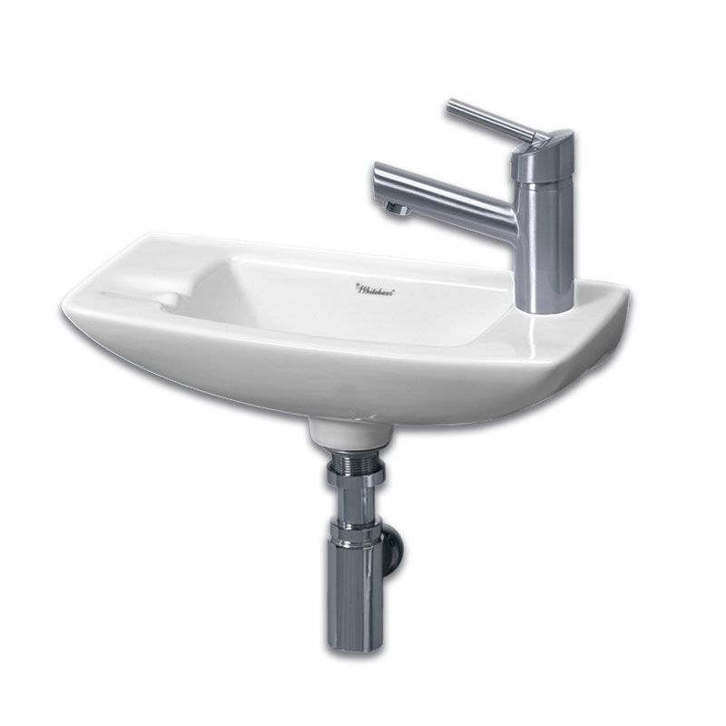 Whitehaus Small Wall Mount Sink - Right Side Single Faucet Drilling ...