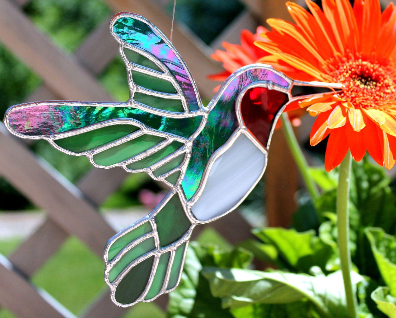 Hummingbird Stained Glass Suncatcher. $30.00, via Etsy ... - photo#4