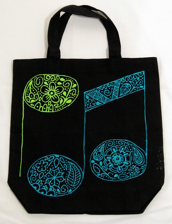 Cute music tote by IrisTaxi Crafts!