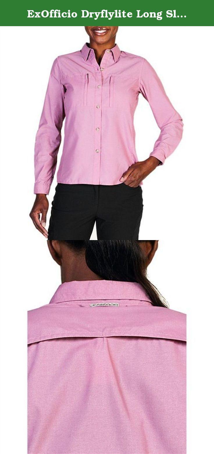 0c35eb35 ExOfficio Dryflylite Long Sleeve Shirt - Women's Fondant Small. FEATURES of  the ExOfficio Women's Dryflylite
