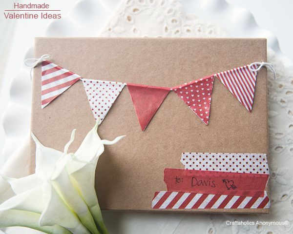 Awesome Valentine's day #crafts using washi tape! Seriously cute ideas!