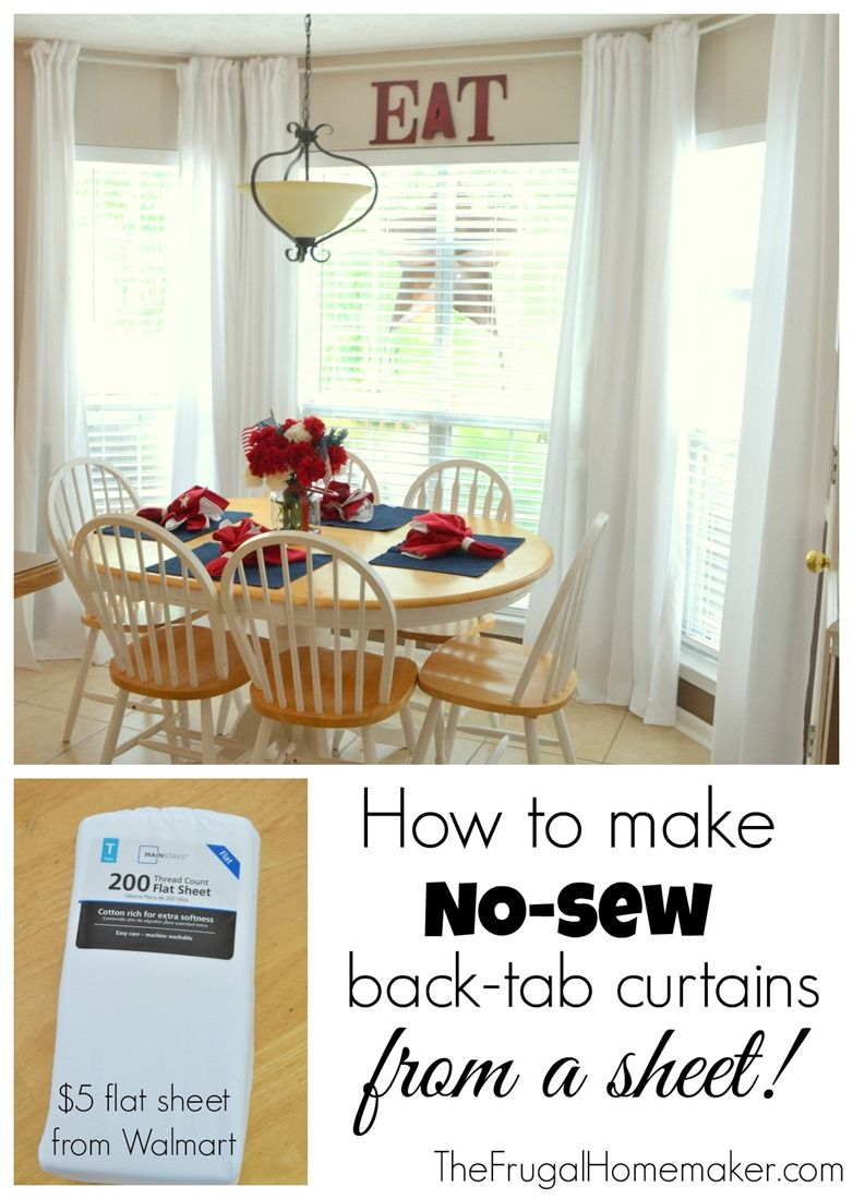 How to make no-sew back-tab curtain from a sheet.....Mind, BLOWN ...