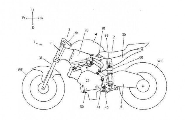 080916 Honda Rvf1000 Monocoque Patent Diagram Motorcycle Design 1996 Accord Electrical: Wiring Diagrams Honda Cb750 At Johnprice.co