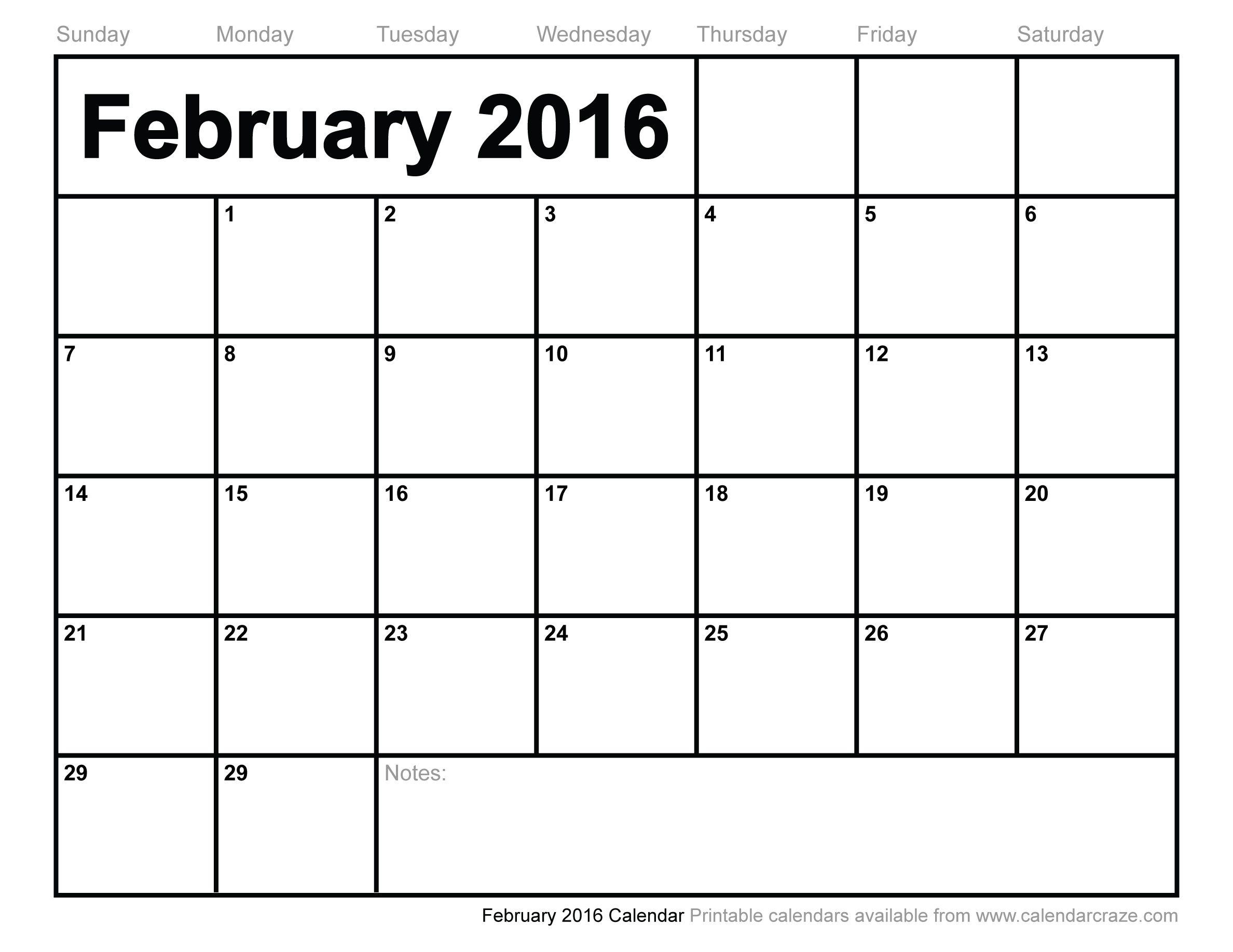 February 2016 Calendar 5th Friday Make A Life Saving Fashion