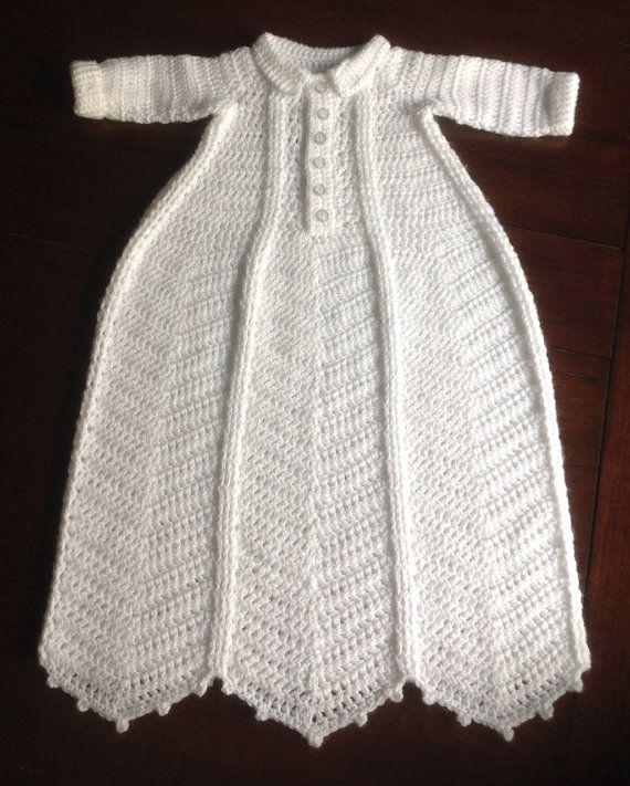 Boy Christening Gown 0 to 3 months PATTERN Kyan   Crochet para bebes ...