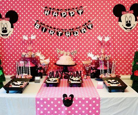 Decoracion De Minnie Mouse Para Fiestas Infantiles Google Search Minnie Mouse Birthday Theme Minnie Mouse Birthday Minnie Party