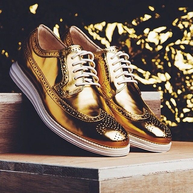 Pin by Cole Haan on Gold | Dress shoes