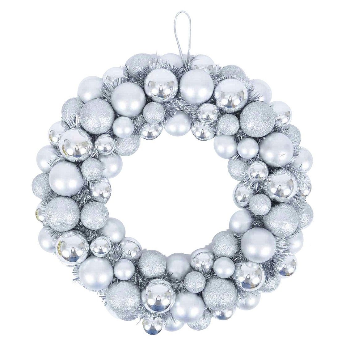 """16"""" Shatterproof Ornament Wreath use tinsel to cover"""