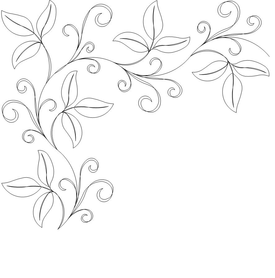 Apple leaf border corner longarm quilt borders