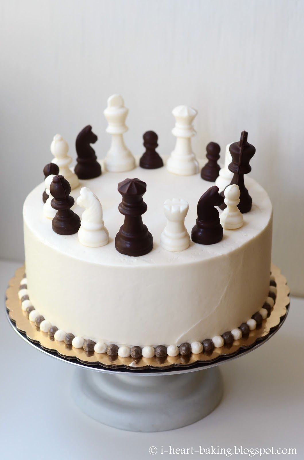 Swell Chess Cake With Handmade Chocolate Chess Pieces With Images Funny Birthday Cards Online Overcheapnameinfo
