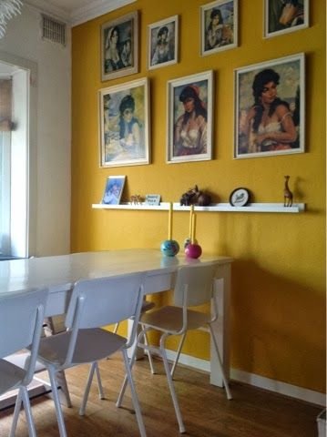 Yellow Ochre Wall Pastel Living Room Living Room Decor