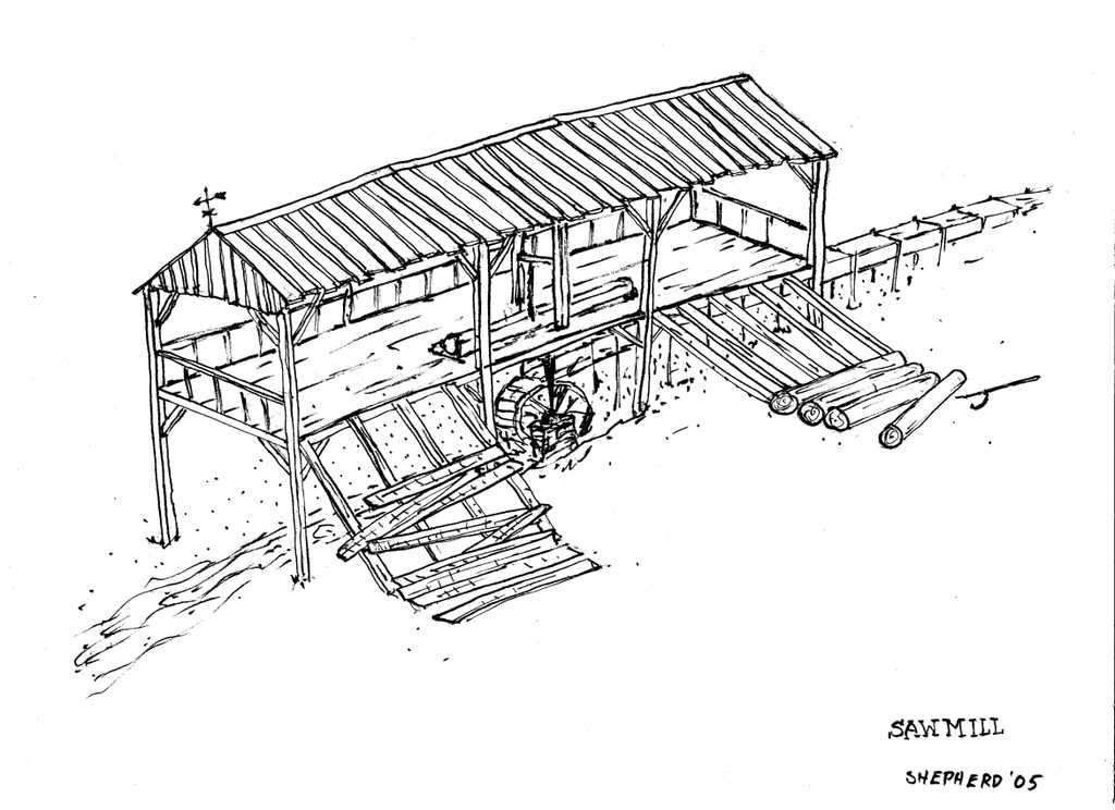 How to build sutter 39 s mill sawmill similar to sutter s for Old blueprints for sale