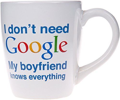 Knows Everything Novelty Ceramic Mug 22 Oz Coffee Tea Cup My Boyfriend And Products