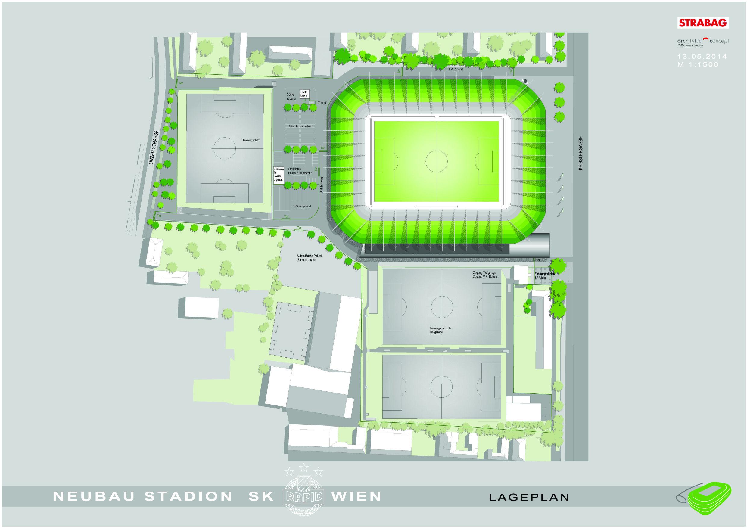 rapid vienna u0027s new stadium master plan stadium pinterest
