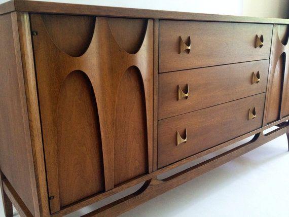 Broyhill Brasilia Credenza Dresser Sideboard By RetroLuxeHome 85000 CredenzaArmchairsSofasDressersMid CenturyDining Room