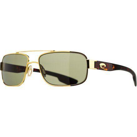 Costa Del Mar Tower Polarized Sunglasses - Costa 580 Glass Lens Gold/Gray, One Size Costa Del Mar. $258.95