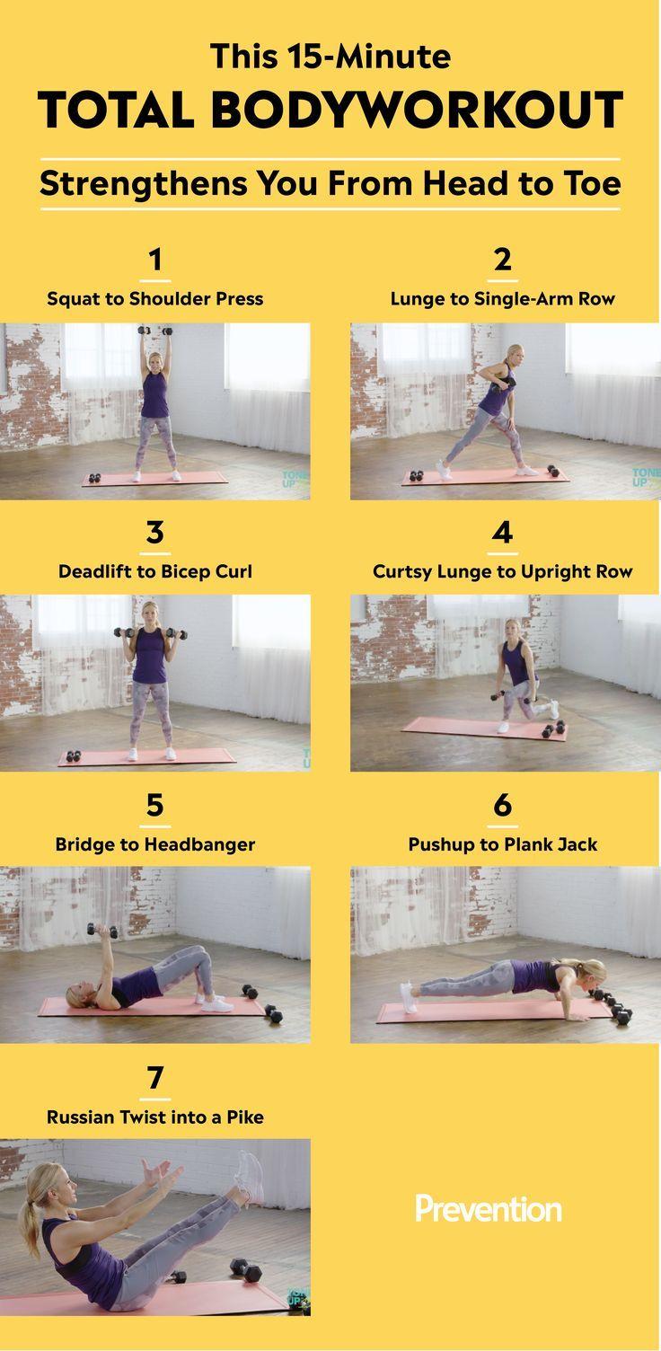 Dieses Training stärkt und stärkt jeden Zentimeter Ihres Körpers in nur 15 Minuten   - Fitness Tips...
