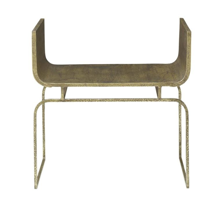 Trieste Bench Small Contemporary, MidCentury Modern, Transitional, Metal,  Bench By Mr Brown London