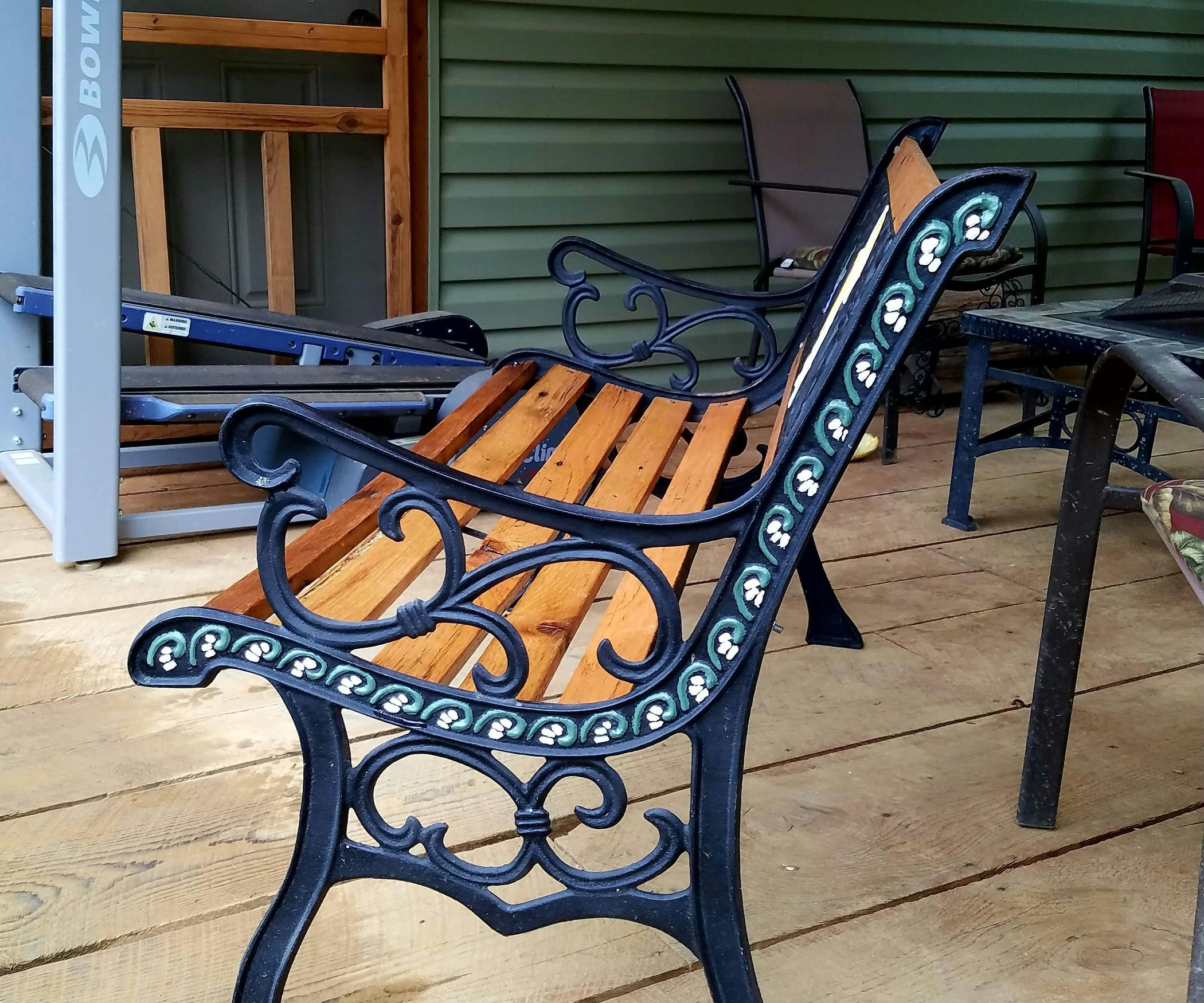 Restored Vintage Cast Iron Angel Garden Bench With Images