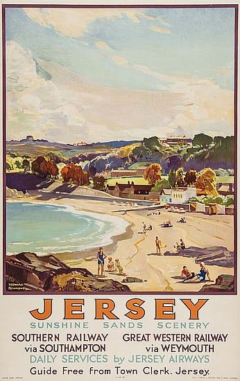 Richmond Leonard 1965 Jersey Lithograph In Travel Posters Vintage Travel Posters Transportation Poster