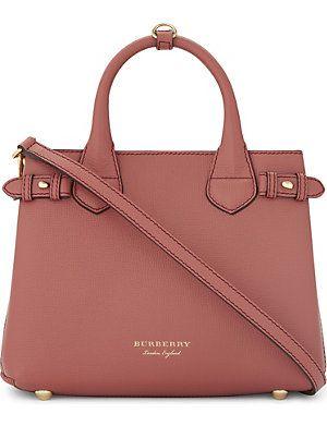 70769e8e91 Handbags   Wallets - BURBERRY Banner small leather shoulder bag - How  should we combine handbags and wallets