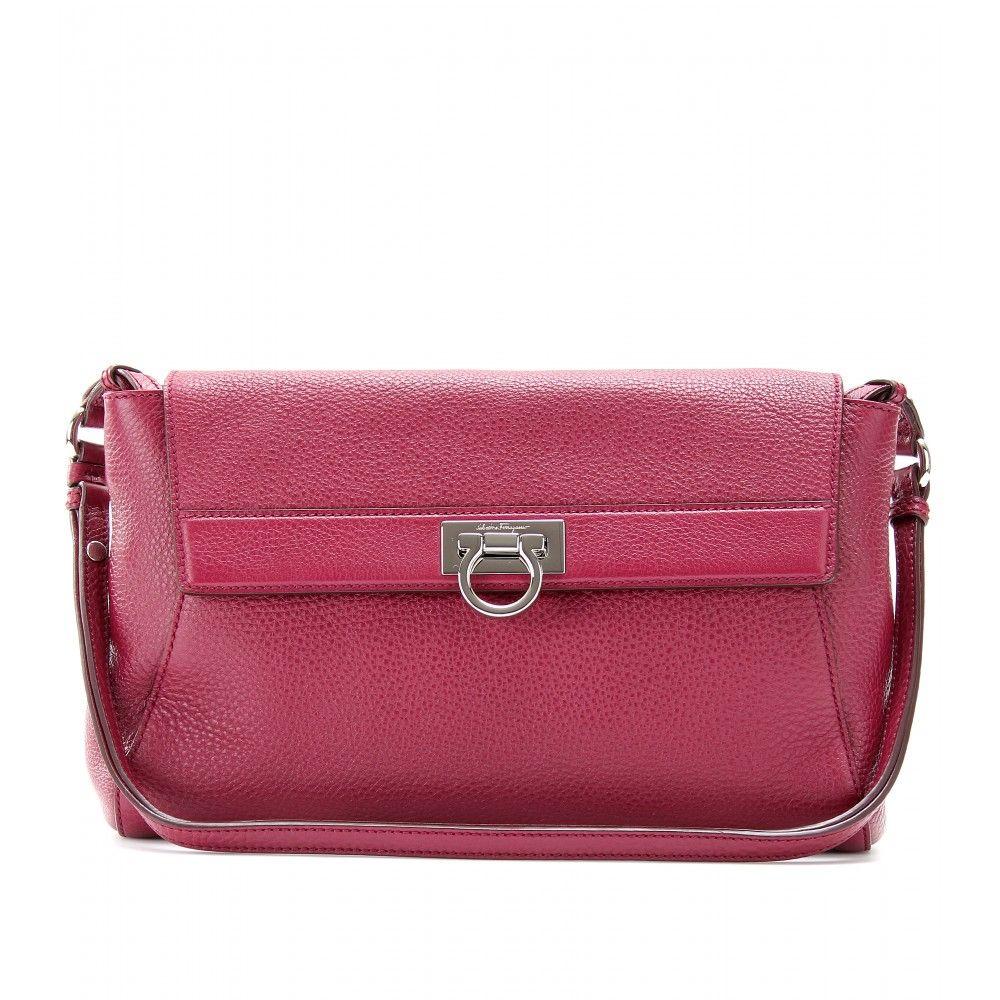 Abbey Leather Shoulder Bag   Salvatore Ferragamo ✽ mytheresa   wish ... 747ff4b1a3