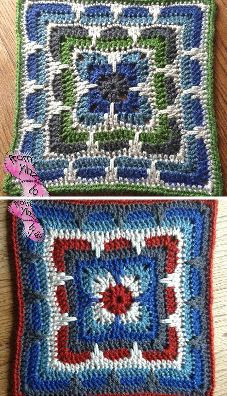 Free Crochet Pattern This Larksfoot Inspired 12 Granny Square Is