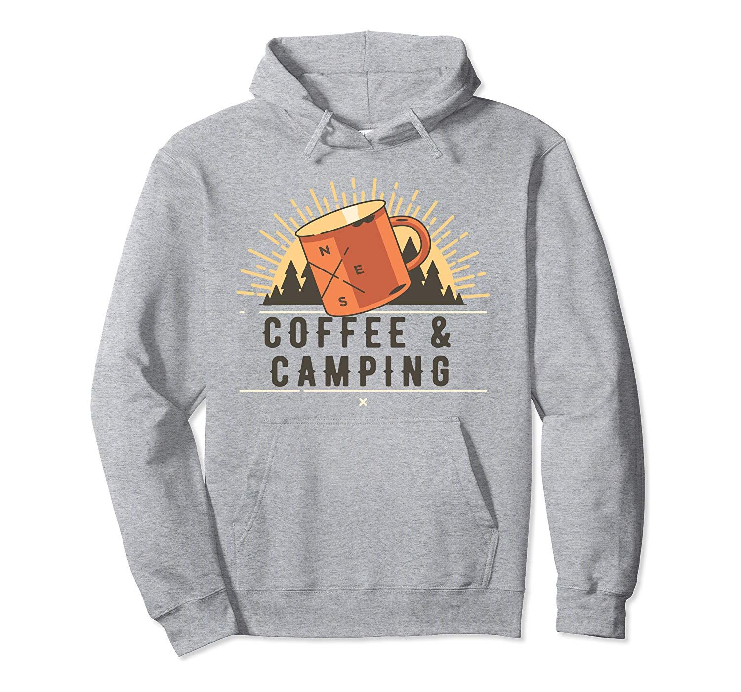 Coffee And Camping for Caffeine Loving Campers Pullover Hoodie #doseofcolorscampfire