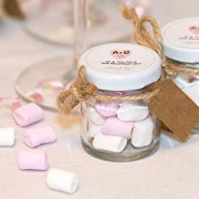 Cute marshmallow jars. Great for guest favours. . . . . . . . . .  presents  giftwrapping  birthdaygifts  wedding  christmasgifts  christmaspresents  gifts  festiveseason  seasonsgreetings   hampers  gifthampers  favours  wedingfavours  followforfollowback  followloop  weekendfollowloop  baskets  bridesmaids  giftsforher  giftsforhim  bridalshower  babyshowerfavours  mehndi  party  hendo  giftbaskets  weddingshower  vintage  packaging #cutemarshmallows Cute marshmallow jars. Great for guest favo #cutemarshmallows