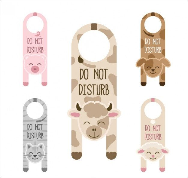 Cute Door Hangers With Animals  Ajndk    Door Hanger