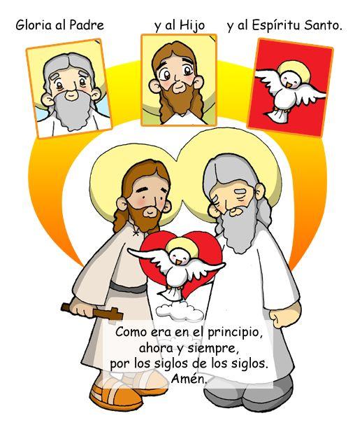 Dibujos para catequesis: GLORIA AL PADRE - ORACIÓN | Virgen Maria ...