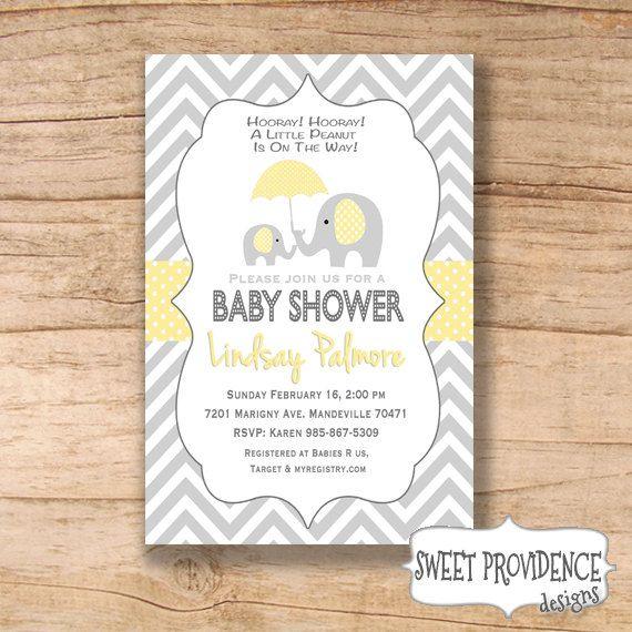 Yellow and grey baby shower invitation chevron elephant by yellow and grey baby shower invitation chevron elephant by sweetprovidence 1200 filmwisefo Choice Image