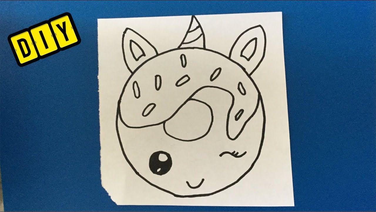 Diy Schattige Unicorn Tekenen Hoe Teken Je Een Donut Tekenen In Stappen Makkelijk Basteln Tekenen Voor Kinderen Emoji Tekening Schattige Tekeningen