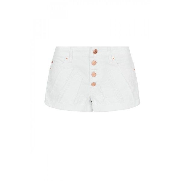 sass & bide Give Me Vision High Rise Short ($250) ❤ liked on Polyvore featuring shorts, short shorts, relaxed fit shorts, white high waisted shorts, relaxed shorts and highwaisted shorts