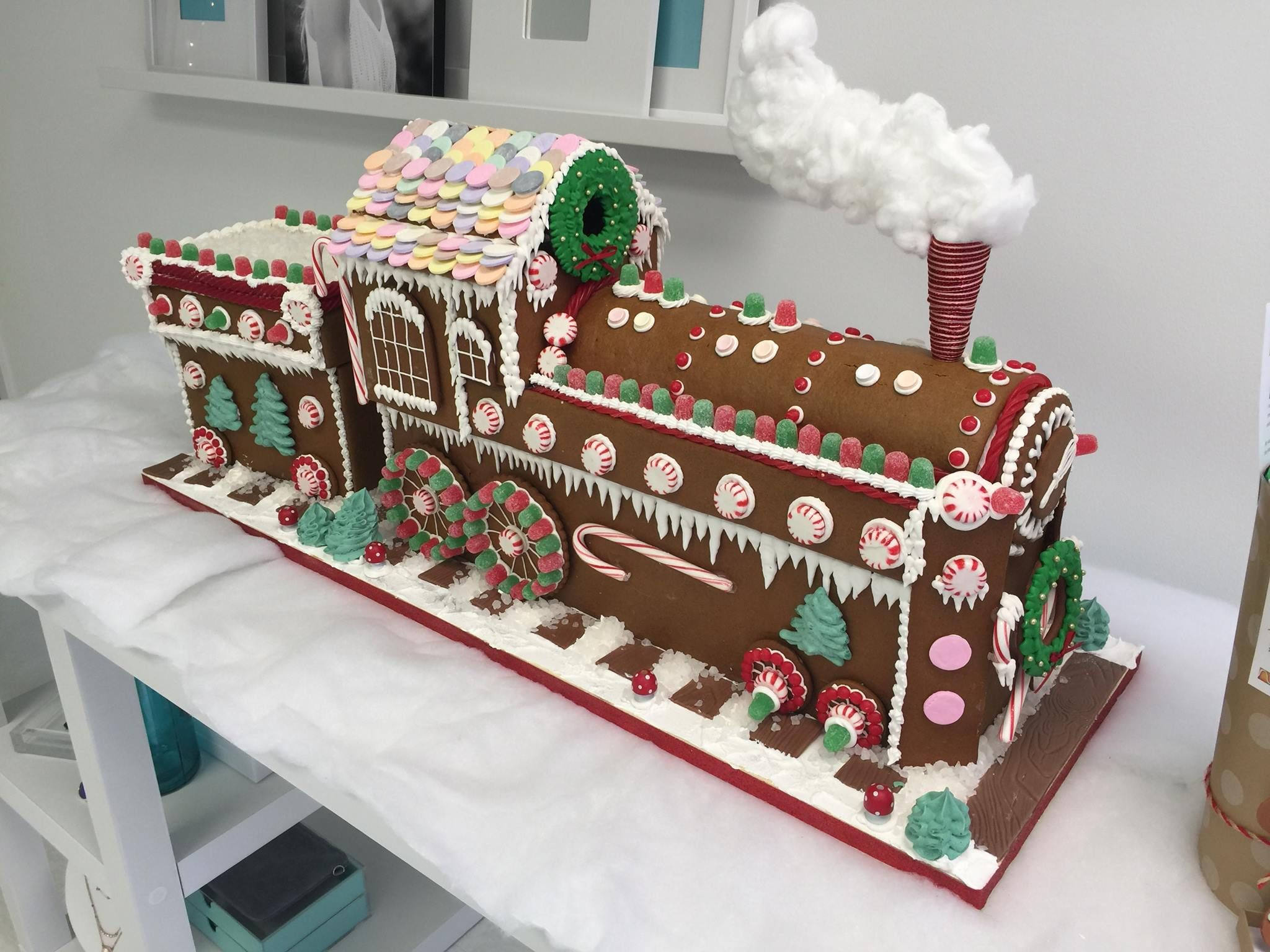 I Like The Gingerbread Train Nice Effect With The Necco