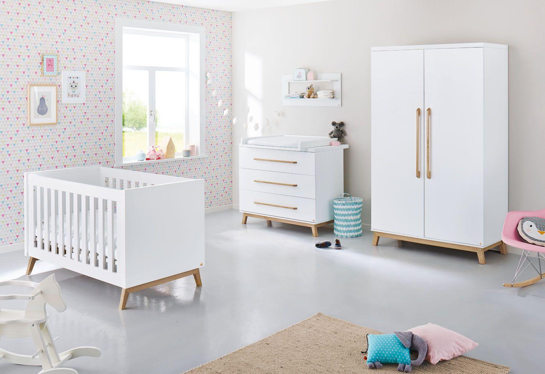 scandi nursery in white and Oak. Modern and minimalistic