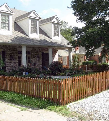 wooden picket fence rustic - Google Search | House fence ...