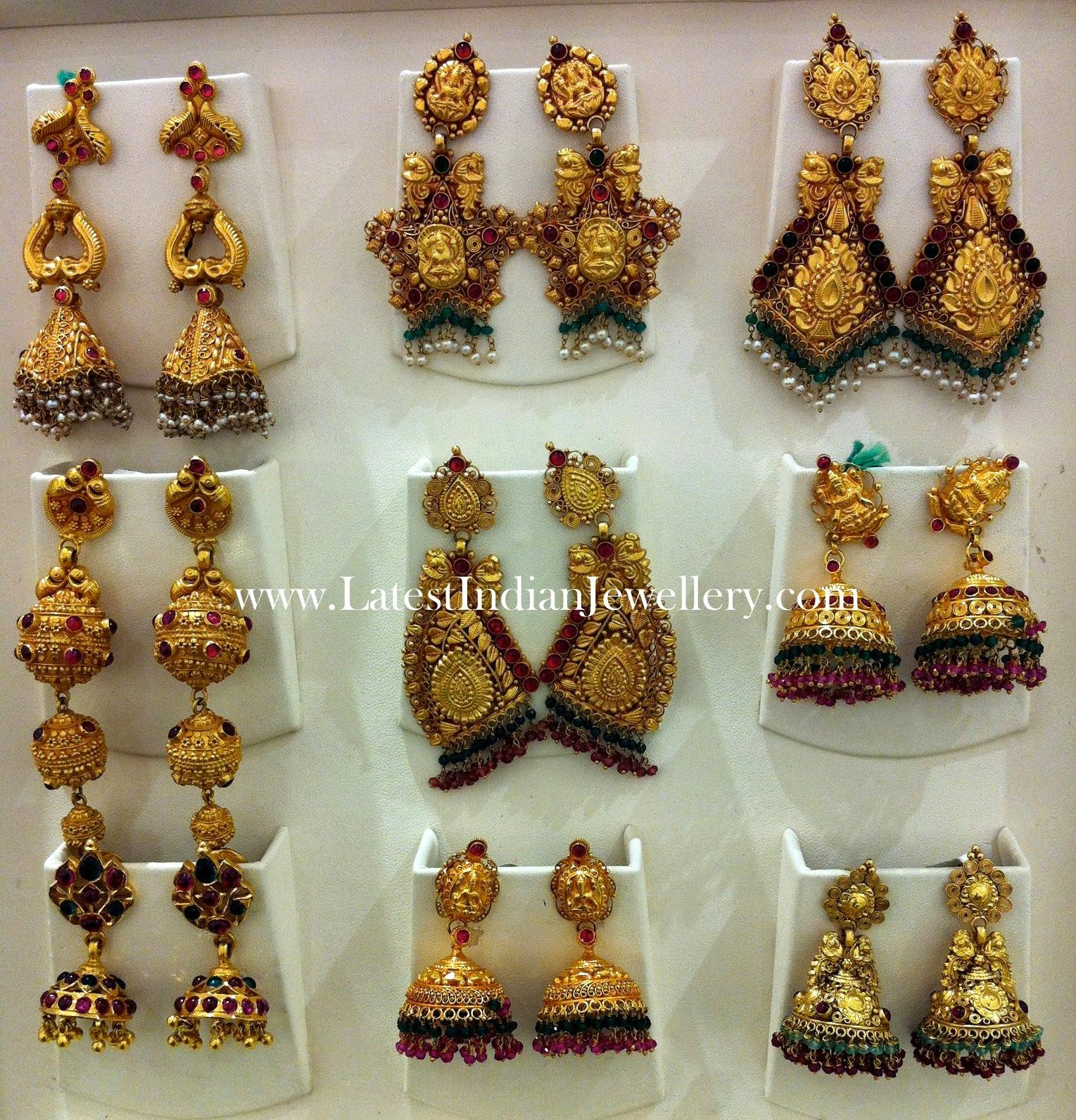 Latest Gold Jhumkas Earrings Collection | Gold, Collection and Jewel