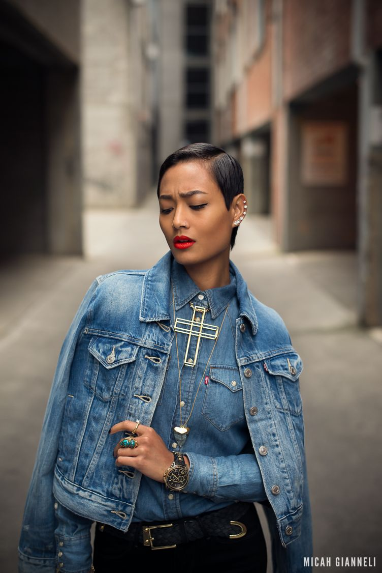 Micah Gianneli_Best top personal style fashion blog_Street style editorial_Levi's editorial campaign_Triple double denim_Vera Xane_Save the ...