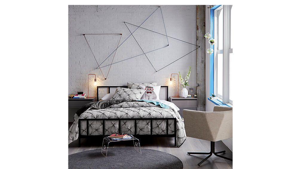921af568a33 Shop alchemy matte black bed. Matte black powdercoated frame by  Barcelona-based Mermelada Estudio dreams up a modern interpretation of a  vintage bed.