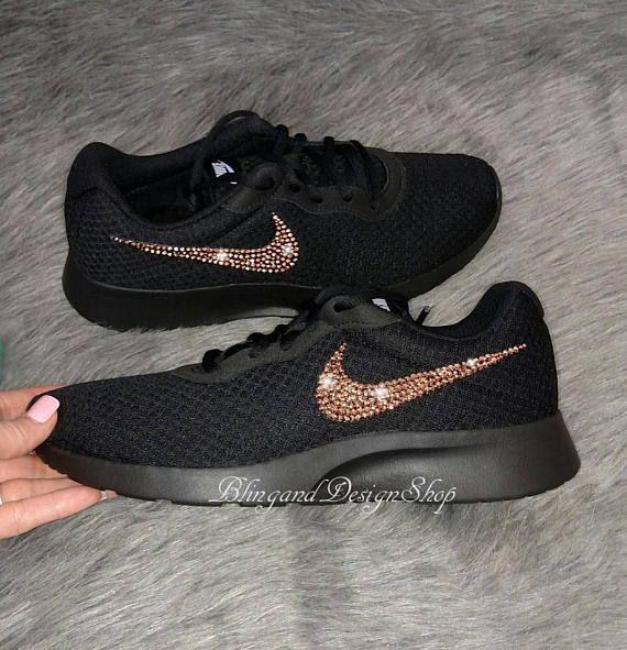 Nike Tanjun customized with Rose Gold