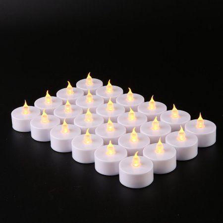 24 Pcs Led Candle Lights For Festivals Weddings Party Tea
