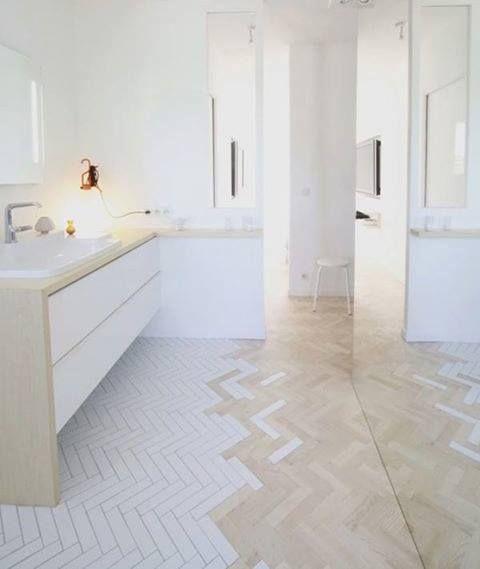 Lovin the floor! Chevron cocinas Pinterest Brown decor - parkett für badezimmer