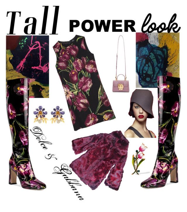 """Tall power look"" by constance1998 ❤ liked on Polyvore featuring NOVICA, Dolce&Gabbana and powerlook"