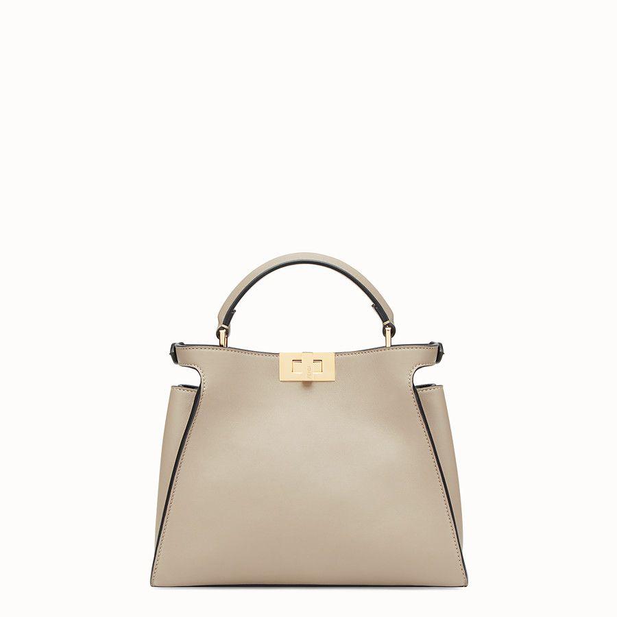 e61ed921fad7 FENDI PEEKABOO ESSENTIAL - Beige leather bag - view 3 detail